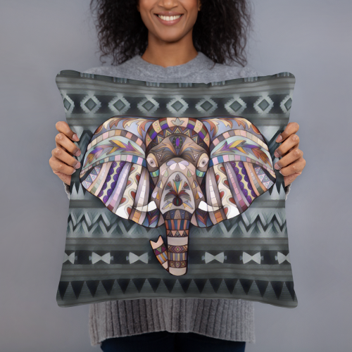 Elephant Spirit Art Pillow