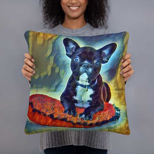 French Bulldog Art pillow