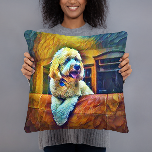 Goldendoodle Art Pillow