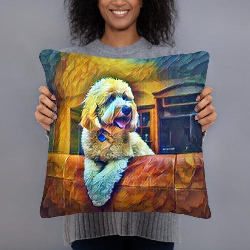 Goldendoodle Art Pillow