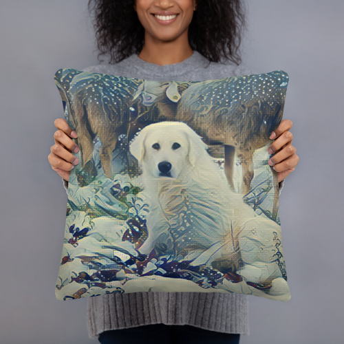Great Pyrenees Art Pillow