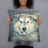Alaskan Malamute Art Pillow
